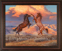 Desert Storm – Framed Giclee Canvas by Hayden Lambson