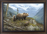 Griz Country – Framed Giclee Canvas by Hayden Lambson