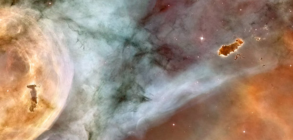 Carina Nebula The Caterpillar by Hubble Telescope