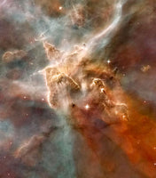 Star-Forming Region of Carina Nebula by Hubble Telescope