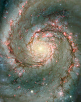 The Heart of the Whirlpool Galaxy by Hubble Telescope