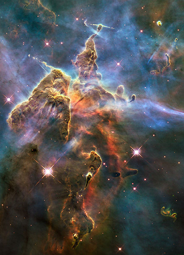 Visible View of Pillar and Jets by Hubble Telescope