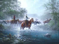 Jack Terry Crossing the Nueces Art Prints