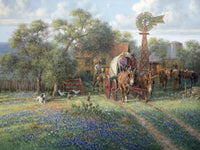 Jack Terry Hill Country Homestead Art Prints