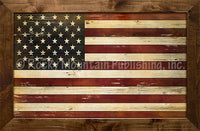Rustic American Flag framed artwork by Jeremy Ashcroft