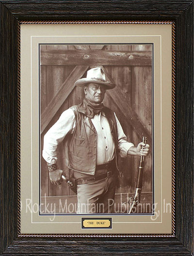 The Duke Framed Print of John Wayne – Cowboy