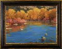 Drifting the South Fork Framed Giclee Canvas by Ken Spencer