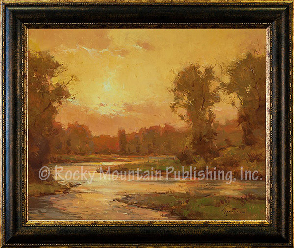 Golden Dawn Framed Giclee Canvas by Ken Spencer
