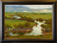 Silver Creek Spring Framed Giclee Canvas by Ken Spencer
