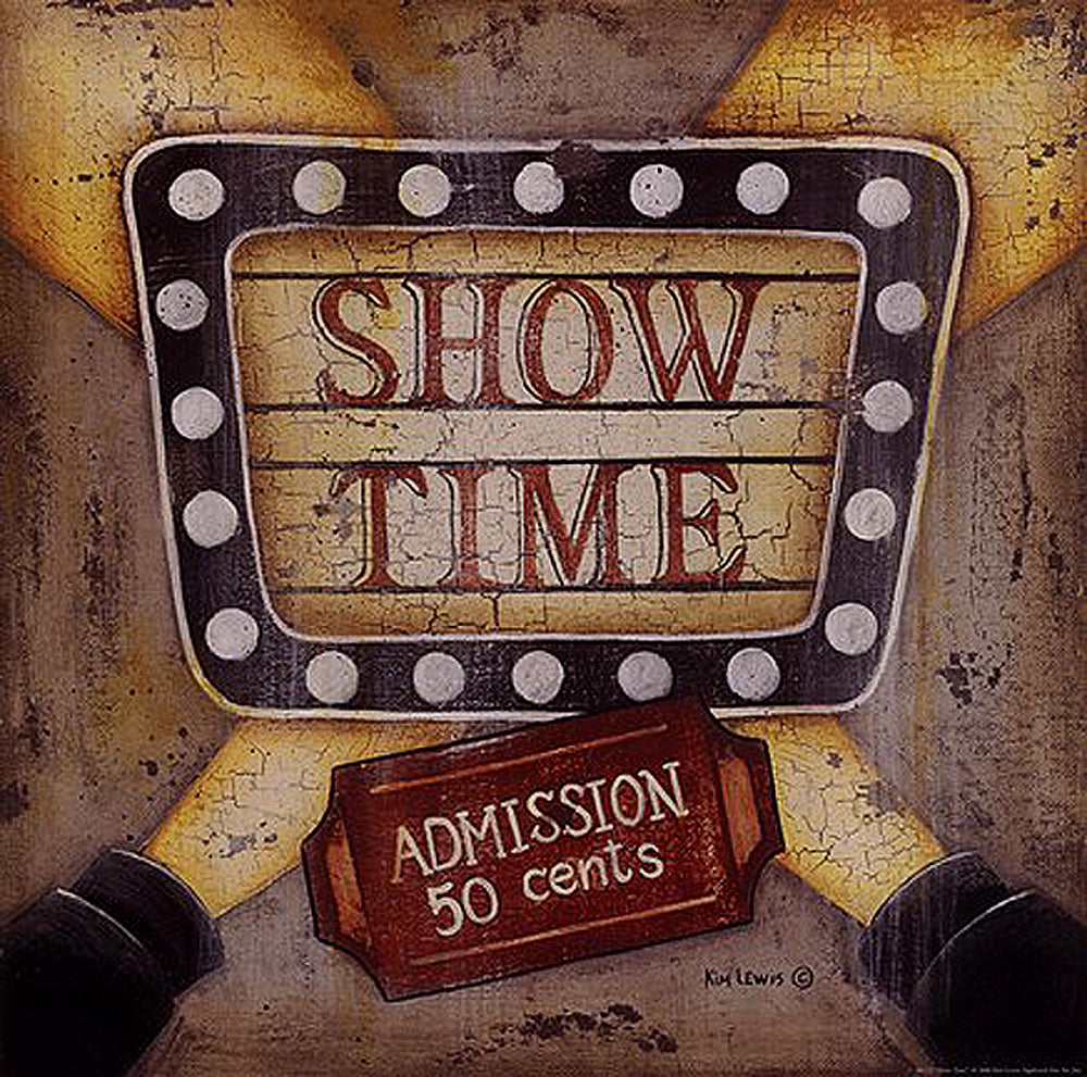 Show Time Art Prints by Kim Lewis