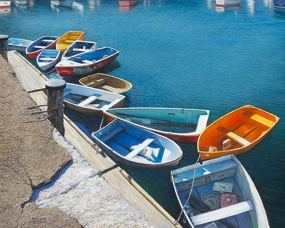 Lonely Boats by Larry Dyke