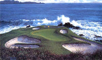 The 7th at Pebble Beach by Larry Dyke