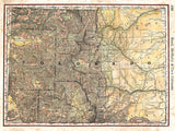 Colorado Wagon Roads Map by Lisa Middleton