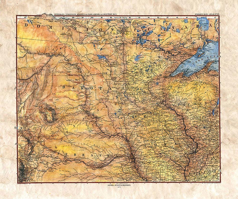 Gotha Midwest Map by Lisa Middleton