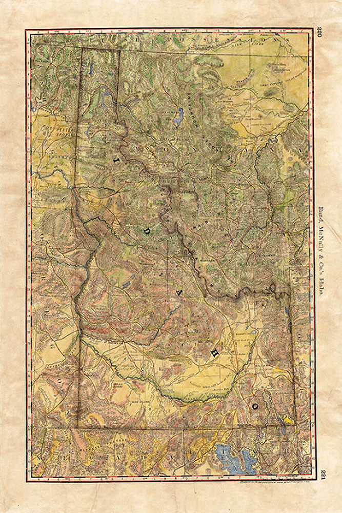 Idaho Wagon Roads Map by Lisa Middleton
