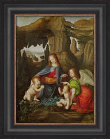 Madonna of the Rocks Custom Framed Giclee Canvas by Leonardo Da Vinci
