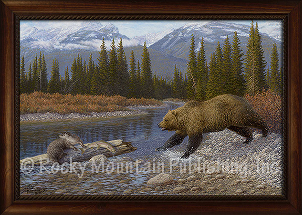 Ambush – Framed Giclee Canvas by Manuel Mansanarez