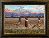 Attentive Trio – Framed Giclee Canvas by Manuel Mansanarez