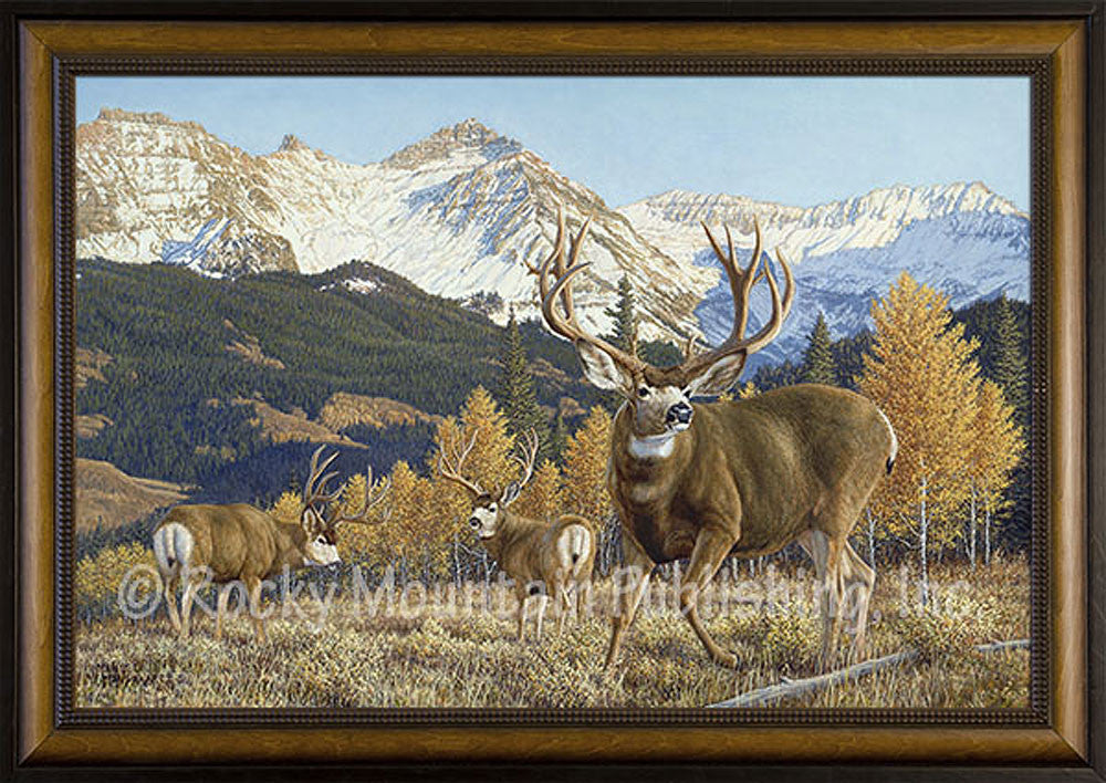 Autumn Alert – Framed Giclee Canvas by Manuel Mansanarez