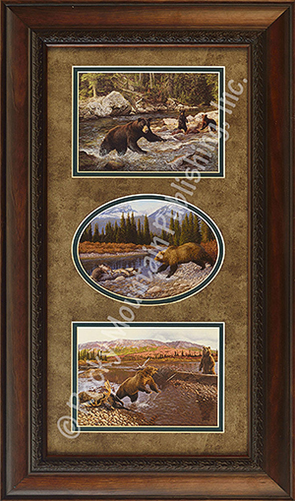 Bears Triple Framed Prints by Manuel Mansanarez