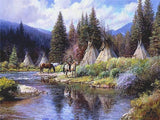 A Camp Along the River by Martin Grelle