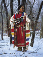 Cheyenne Wood Gatherer by Martin Grelle