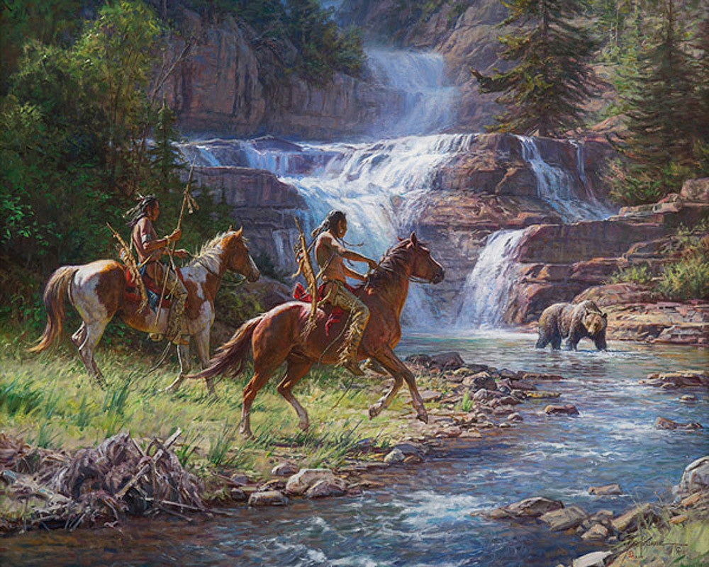 Encounter at the Falls by Martin Grelle