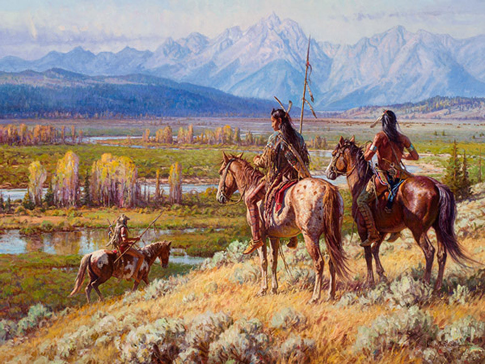Scouts on the Buffalo Fork by Martin Grelle