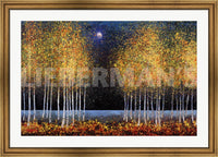 Melissa Graves Brown Blue Moon Custom Framed Art Print