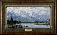 Teton Storm Framed Print by Michael Bargelski