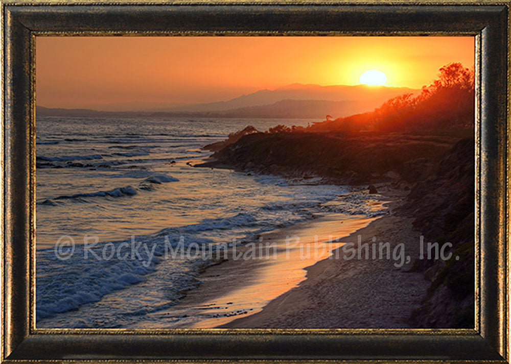 Beachside Reflections – Framed Giclee Canvas by Mitchell Mansanarez