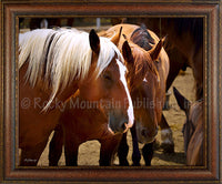 Best Friends Custom Framed Art Prints by Mitchell Mansanarez
