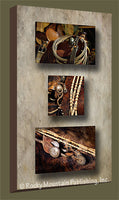 Bridle and Reins – Gallery Wrapped Triple Canvas Art Prints by Mitchell Mansanarez