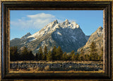 Cascade Canyon – Framed Giclee Canvas by Mitchell Mansanarez