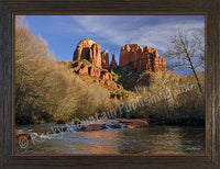 Cathedral Rock – Framed Giclee Canvas by Mitchell Mansanarez