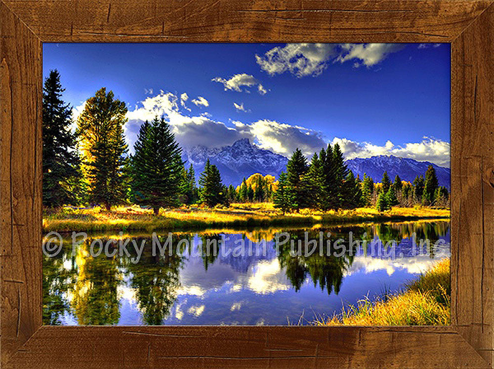 Fall Shadows – Framed Giclee Canvas by Mitchell Mansanarez