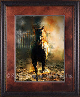 Fire and Mane – Framed Art Prints by Mitchell Mansanarez