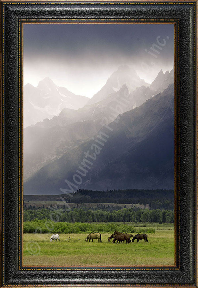 Misty Morning – Framed Giclee Canvas by Mitchell Mansanarez