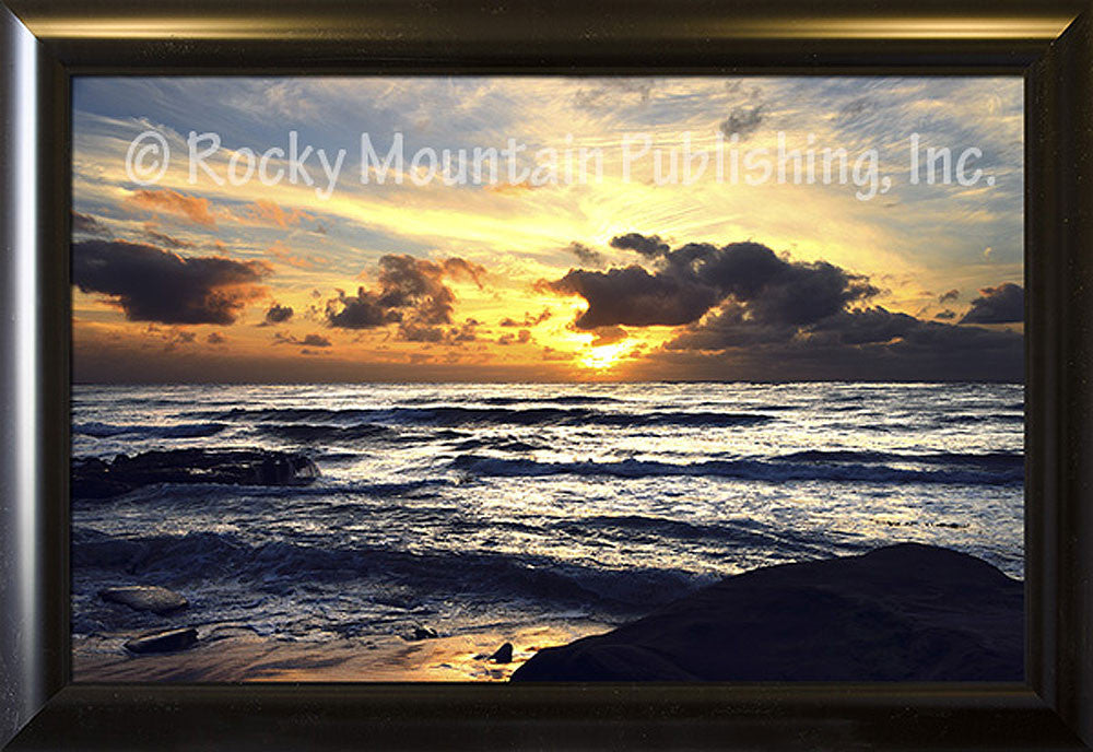 Pacific Breeze – Framed Giclee Canvas by Mitchell Mansanarez