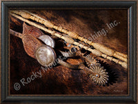 Rawhide and Spurs – Framed Giclee Canvas by Mitchell Mansanarez