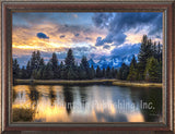 Rivers Edge – Framed Giclee Canvas by Mitchell Mansanarez