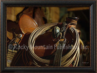 Saddle 1 – Framed Giclee Canvas by Mitchell Mansanarez