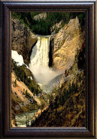 Yellowstone Falls – Framed Giclee Canvas by Mitchell Mansanarez