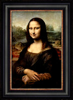 Mona Lisa Custom Framed Giclee Canvas by Leonardo Da Vinci