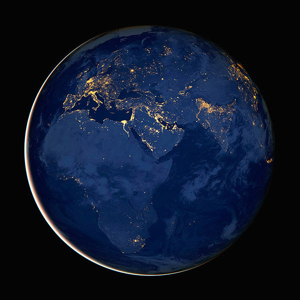 Europe and Africa at Night from NASA