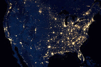 US at Night from NASA