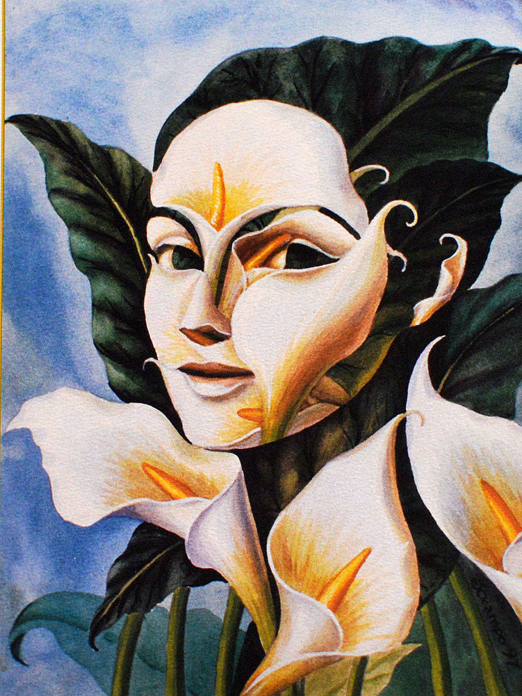 Lady in Field of Lilies – Art Prints by Octavio Ocampo