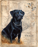 Black Lab Map by Patty Pendergast