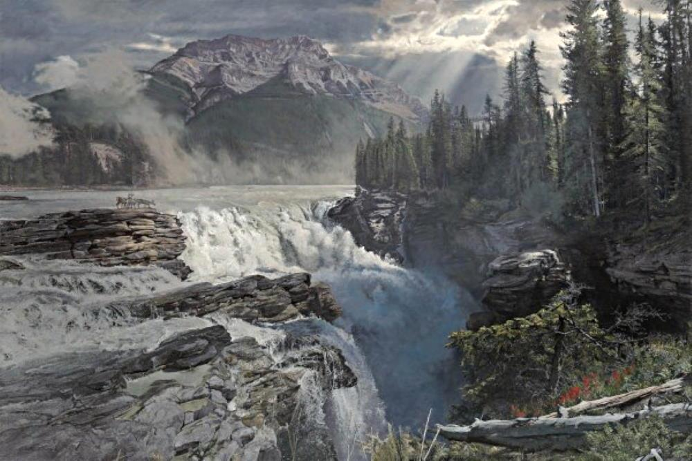 Athabasca Falls Art Prints by Phillip Philbeck