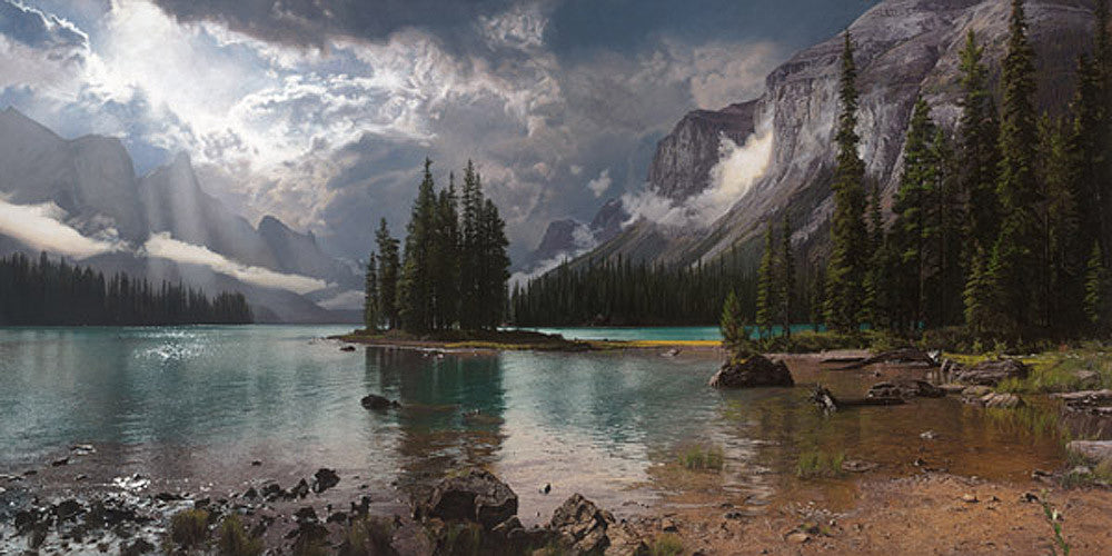 Spirit Island at Maligne Lake by Phillip Philbeck